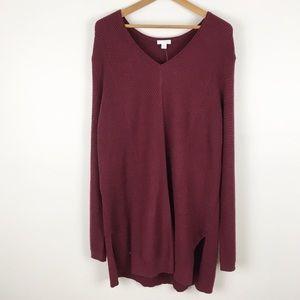 J JILL | maroon tunic sweater